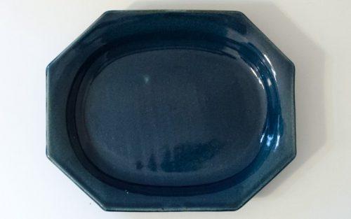 陶房マルヨウのオーバル八角平皿