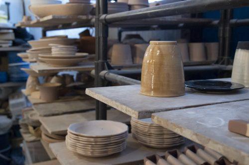 陶房マルヨウ 制作途中の陶器の写真