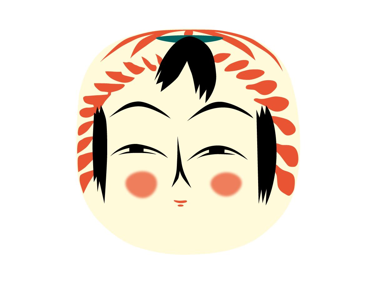 遠刈田系伝統こけしのイラスト