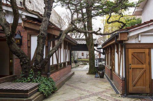 光原社本店の中庭の写真