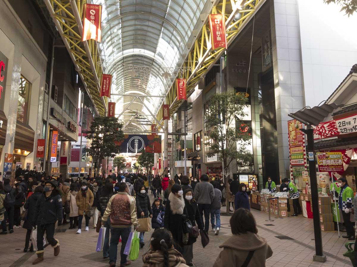 ぶらんど〜む一番町商店街での仙台初売りの写真