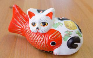堤人形「鯛猫」の写真
